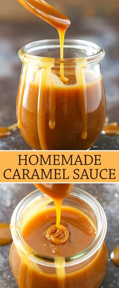 The Best Homemade Caramel Sauce Recipe Ever! Perfect for fall and holiday desserts!<br> This easy caramel sauce recipe is to die for! It's a classic homemade caramel recipe that you'll make over and over again. Winter Desserts, Fun Holiday Desserts, Mini Desserts, Dessert Recipes, Desserts Caramel, Appetizer Recipes, Easy Desserts, Cheesecake Desserts, Health Desserts