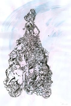White Widow - watercolour/ink, 2015 #iamdanielfisher #art #fashionillustration