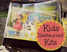 What can you put in your kid's restaurant kit to keep them busy