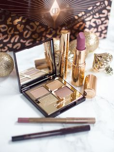 Charlotte Tilbury Dreamy Look in a Clutch, Legendary Muse Palette, Secret Salma Lipstick