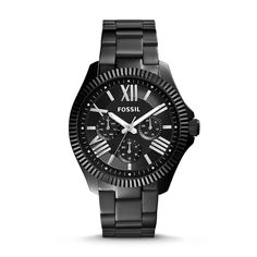 AM4591 - Fossil Cecile Multifunction Stainless Steel Watch - Black $145 STYLE: AM4591