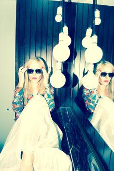 lightbulbs and mirror:-)