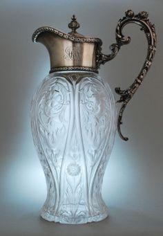 Vintage crystal pitcher.