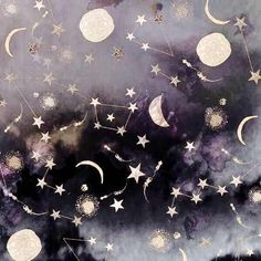 Moon and constellations. Yennefer Of Vengerberg, Witch Aesthetic, Artemis Aesthetic, Aesthetic Themes, Aesthetic Space, Rainbow Aesthetic, Moon Child, Ravenclaw, Stars And Moon