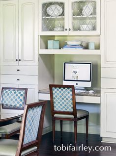 Multi-purpose area in fun and functional family kitchen; design by Tobi Fairley