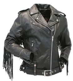 online shopping for Jamin' Leather Ladies Stud & Fringe Leather Jacket from top store. See new offer for Jamin' Leather Ladies Stud & Fringe Leather Jacket Fringe Leather Jacket, Leather Pants, Black Leather, Leather Jackets, Lady Biker, Biker Girl, Jackets For Women, Clothes For Women, Women's Clothes