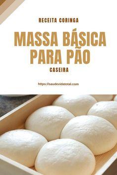 Massa Básica para Pão Cooking Tips, Cooking Recipes, Pan Relleno, Italian Bread, Portuguese Recipes, Special Recipes, How To Make Bread, Keto Snacks, Sweet Bread