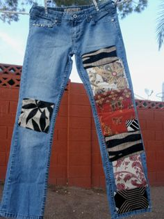 Bohemian Patched Designer Jeans