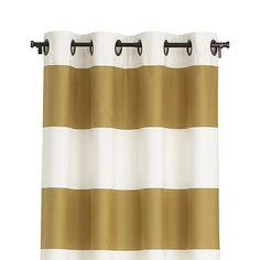 "Alston Ivory/Gold 50""x96"" Curtain Panel 