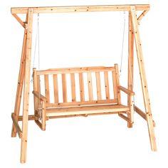 Rustic Bench Swing