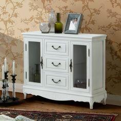 Kommode Belleville mit 2 Glastüren in Weiß kaufen | Home24