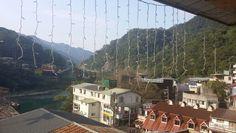 온천에서 바라본 마을