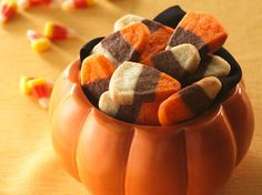 Candy Corn Cookies      I think these will work for Thanksgiving too.  Too many sugary delights for Halloween and not enough for this holiday.
