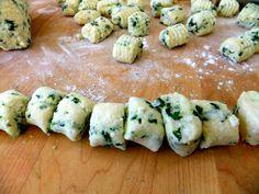 making kale gnocchi