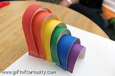 Make a 3D rainbow using this free printable measurement activity    Gift of Curiosity