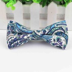 Classic, paisley, pre-tied bow ties for a classy babe. These five bow ties go REALLY well with a neutral outfit to add that POP while still keeping your overall Paisley Flower, Tie Pattern, All Tied Up, Butterfly, Bows, Floral, Cotton, Smooth, Type