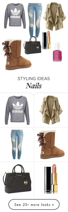 """UGG Boots"" by vanessa-82 on Polyvore featuring Victoria's Secret, Frame Denim, adidas, Michael Kors, Chanel and Essie"