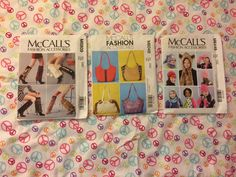 McCalls Fashion Accessories, Designs For Clothing, Never Used.   | eBay