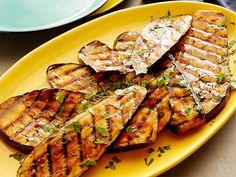 Spicy Hoisin Glazed Eggplant recipe from Bobby Flay via Food Network