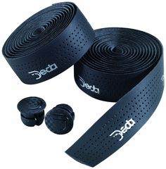 Black DEDA Traforato Noir road bike handlebar padded perforated cycle tape