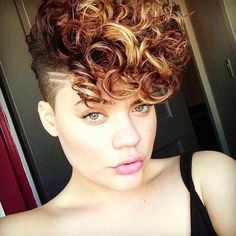 Curly Mohawk with Highlights