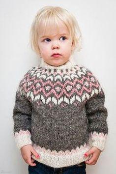Ravelry: Frost pattern by Unnur Eva Arnarsdóttir Kids Knitting Patterns, Knitting For Kids, Baby Patterns, Baby Knitting, Sweater Patterns, Knit Or Crochet, Crochet For Kids, Icelandic Sweaters, Fair Isle Knitting