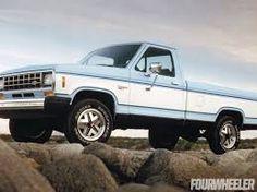 1983 Ford Ranger XLT - Music & Motors in light blue. Old Ford Trucks, Old Pickup Trucks, Lifted Chevy Trucks, Mini Trucks, Mustang 2009, Ford Mustang, Ford Expedition, Ford Ranger, Ranger 4x4