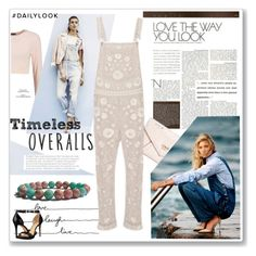 """""""Tricky Trend: Overalls"""" by zenstore ❤ liked on Polyvore featuring GUESS, Needle & Thread, MICHAEL Michael Kors, TrickyTrend and overalls"""