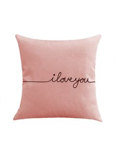 Shop Contrast Letter Print Cushion Cover at ROMWE, discover more fashion styles online. Romwe, Cushion Covers Online, Printed Cushions, Custom Cushions, Home Textile, Textile House, Bag Storage, Clothes Storage, My Room