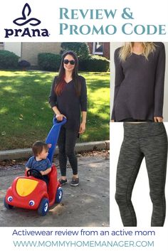 Check my honest prAna review and get an exclusive discount code. Great activewear for busy moms! Comfortable, versatile, and sustainable fashion. #mamainprana #momfashion #leggings
