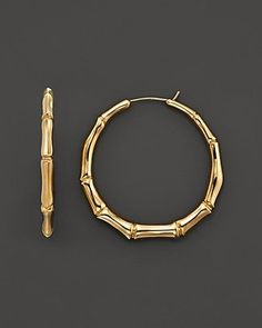 cool Gucci 18K Yellow Gold Bamboo Earrings | Bloomingdale's