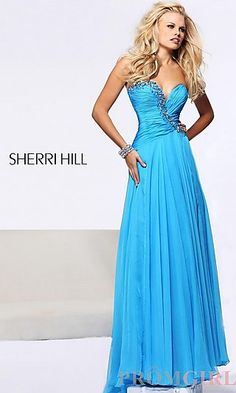 Long Strapless Sweetheart Formal Gown at PromGirl.com.