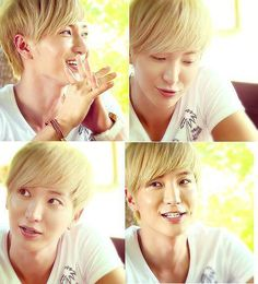 LeeTeuk - I think I prefer him with darker hair color, but either way he's just too adorable with his 30-year-old-looking-like-19-year-old self.