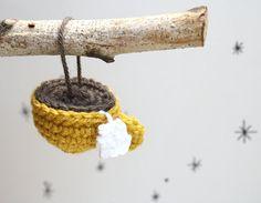 Crochet Teacup Ornament by SheepishKnitCrochet on Etsy. $15.00, via Etsy.