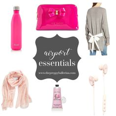 Of all the things that can make traveling go wrong, being uncomfortable at the airport or on a flight seems to be at the top of that list. To see all the airport essentials you need, click this Pin!  http://www.thepreppyballerina.com/2017/07/airport-essentials-for-any-flight.html