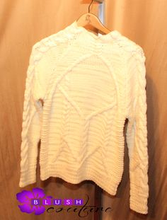 Creame white custom winter sweater $69 (size S) Blush Couture Atlanta