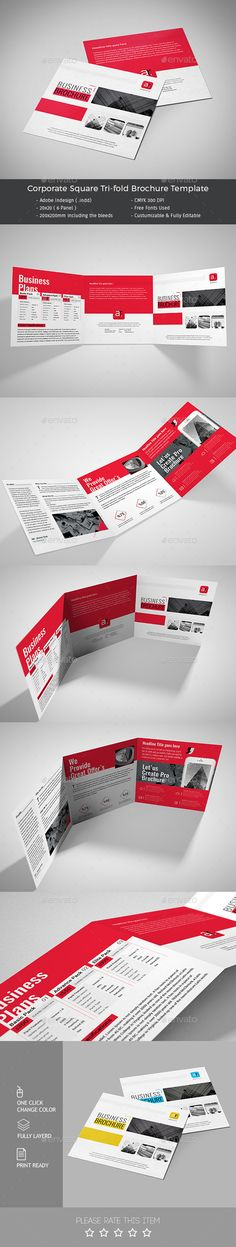 Corporate Square Tri-fold Brochure Template PSD #design Download: http://graphicriver.net/item/corporate-square-trifold-brochure/13494051?ref=ksioks