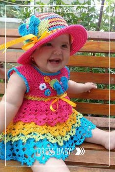 Crochet Dress Baby.