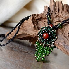 vintage long sweater maxi necklace for women green synthetic crystal red stone bronze flower pendant rope chain fashion jewelry