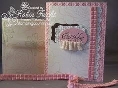 Hand Stamped Birthday Card & Envelope