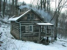 images of old log cabins in the mountins | Mountain Cabin, in Virginia | Structures--Cabins, Old and New