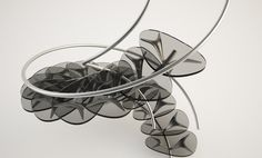 Organic shaped Staircase by DesignLibero.