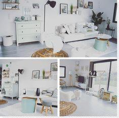 Un salon scandinave épuré & pastel