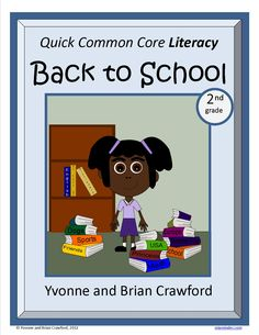 For 2nd grade - Back to School Quick Common Core Literacy is a packet of ten different worksheets featuring a fun back to school theme focusing on grammar and more. $2.50