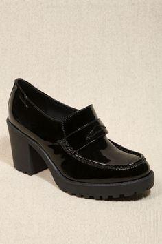 Vagabond Black Grace Heeled Loafers