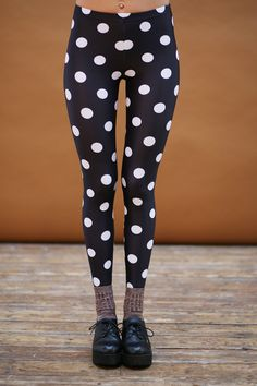 Polka Dot Leggings http://www.thewhitepepper.com/products/polka-dot-leggings