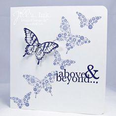 Papillon Potpourri butterflies + One in a Million sentiment = a clean & simple thank you : )