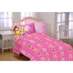 Disney Princess Shine All The Time Twin Sheet Set Pink Girl's Room Decor Bedding Best Christmas Toys, Kids Christmas, Disney Bedding, Twin Sheet Sets, Kids House, Girl Room, Cool Toys, Pillow Cases, Room Decor