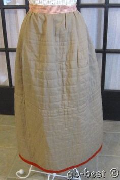 Antique 1890s Pennsylvania Quilted Petticoat Slip Berks County Farm House | eBay
