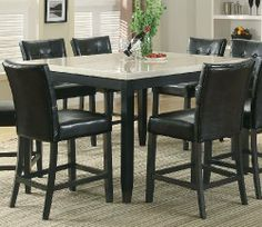Coaster Anisa Counter Height Dining Room Table w/ Faux Marble Top by Coaster Home Furnishings. $422.09. Coaster, Anisa, Counter, Height, Pub, Dining, Room, Table, Dark, Cappuccino, Marble, Top, Beige, CTR-102778, 102778